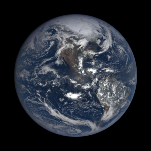 Earth from 895,090 miles